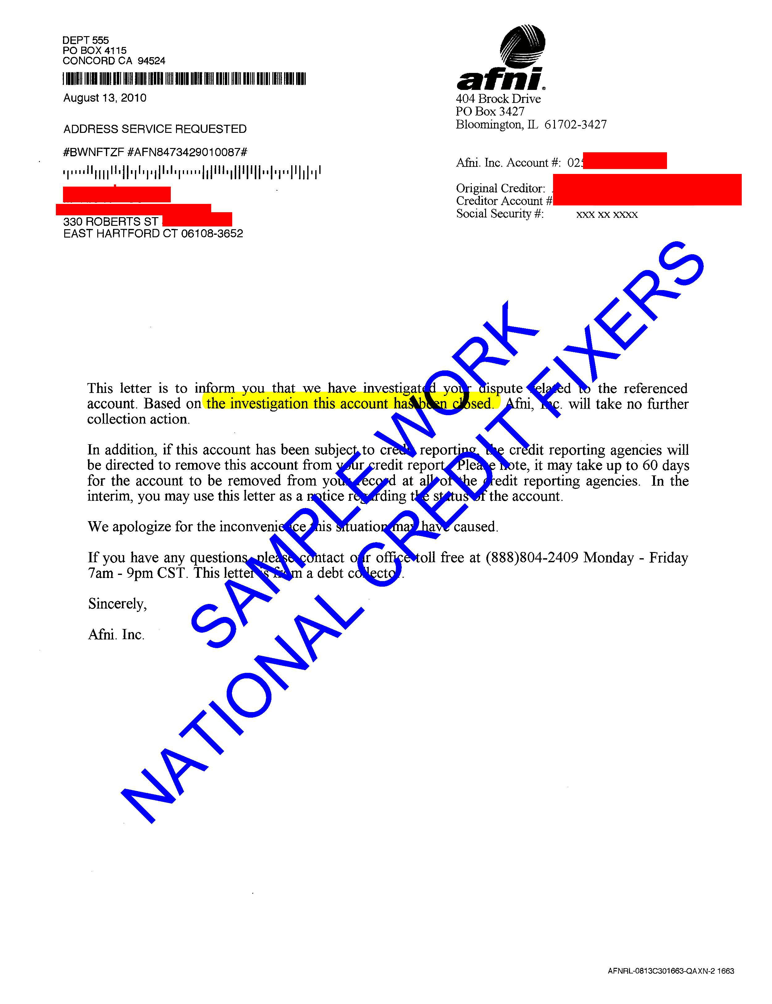Anderson Financial Network Deletion Letter 2