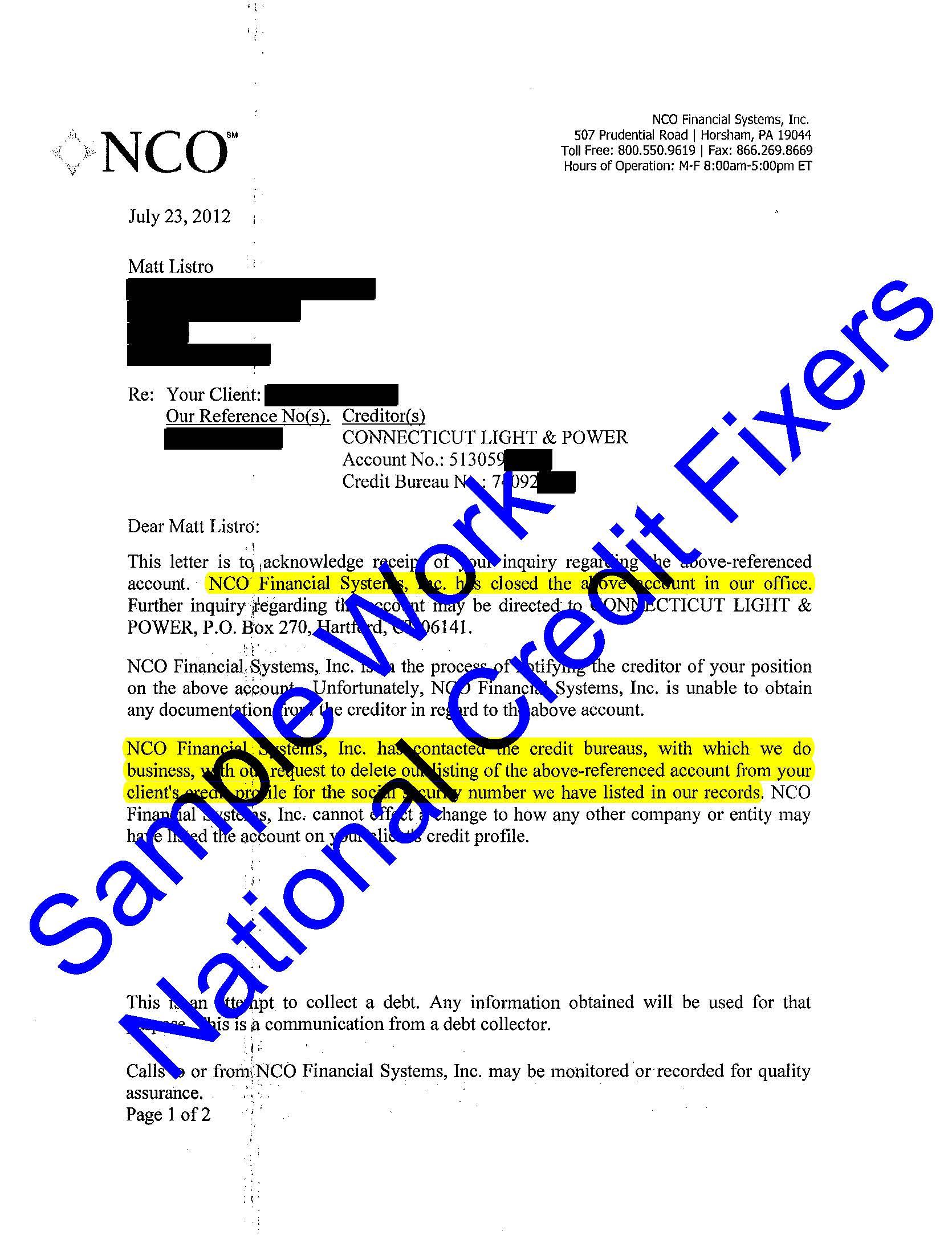 NCO Deletion 4