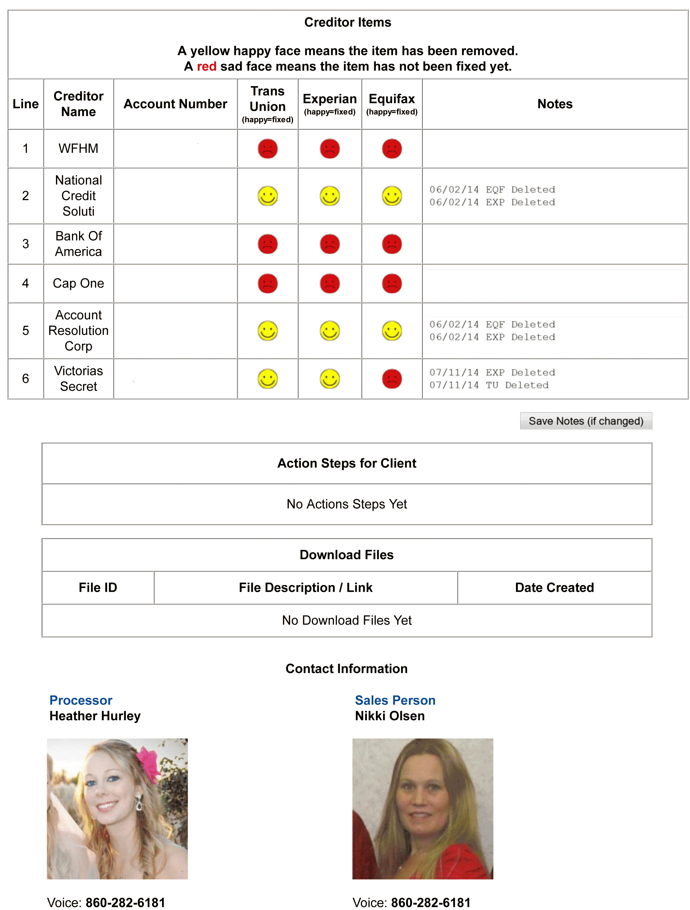 Rount 2 Results
